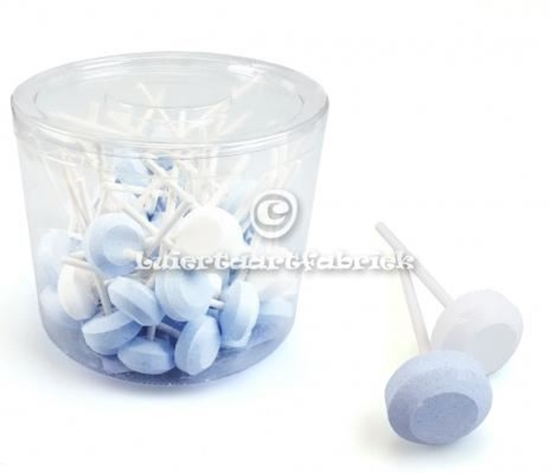 Afbeelding van Dextrose Lollys blauw-Wit