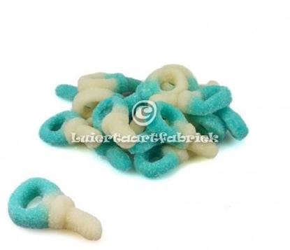 Afbeeldingen van Babyspeentjes blauw-Wit