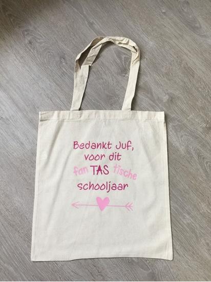 Afbeelding van Linnen tas: fanTAStisch schooljaar