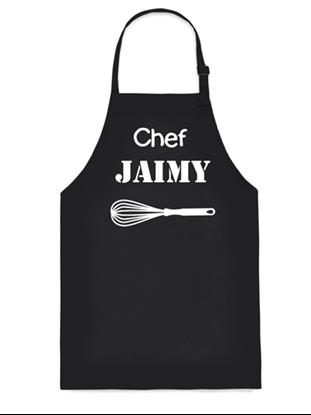 Afbeeldingen van Keukenschort (volwassen) Zwart Chef