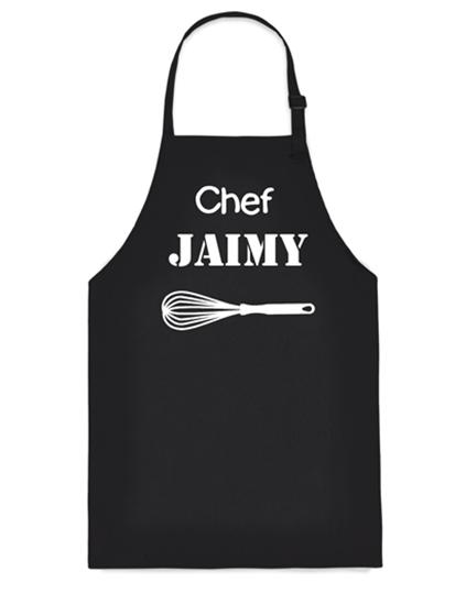 Afbeelding van Keukenschort (volwassen) Zwart Chef