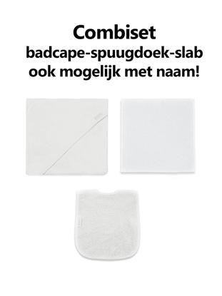 Afbeeldingen van Combipakket Badcape-spuugdoek-slab