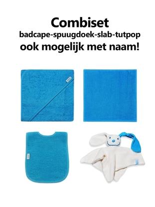 Afbeeldingen van Combipakket Badcape-spuugdoek-slab-tutpop