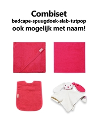 Afbeelding van Combipakket Badcape-spuugdoek-slab-tutpop