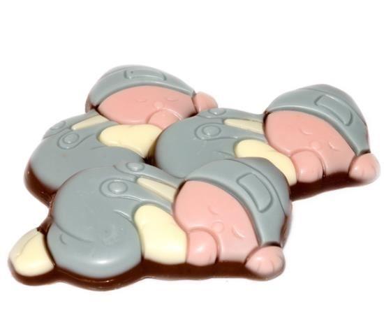 Afbeelding van Choco babies melk wit/blauw