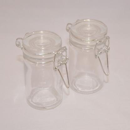 Afbeeldingen van Weckpot van glas met ijzersluiting