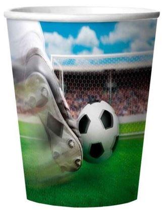 Afbeeldingen van Bekertjes voetbal 3d 4 stuks