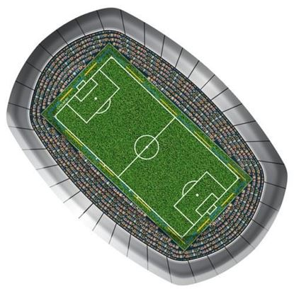 Afbeeldingen van Bordjes voetbal 8 stuks