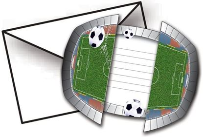 Afbeeldingen van Uitnodigingen voetbal 8 stuks