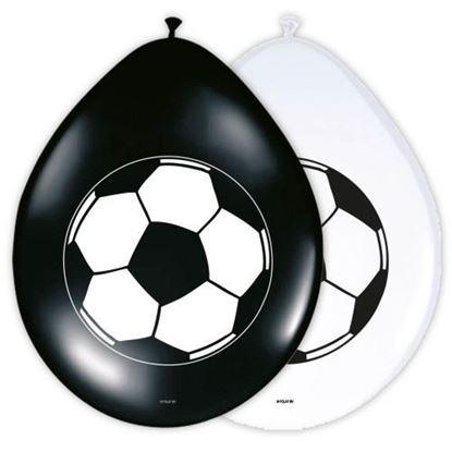 Afbeeldingen van Ballonnen voetbal 8 stuks