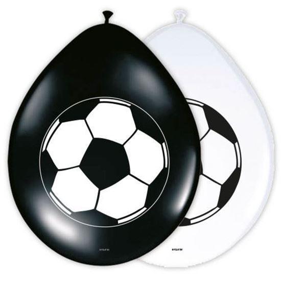 Afbeelding van Ballonnen voetbal 8 stuks
