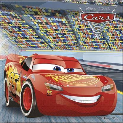 Afbeeldingen van Cars servetten 33x33 cm 20 stuks