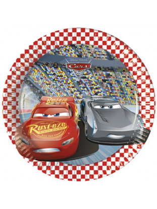 Afbeeldingen van Cars bordjes klein 8 stuks