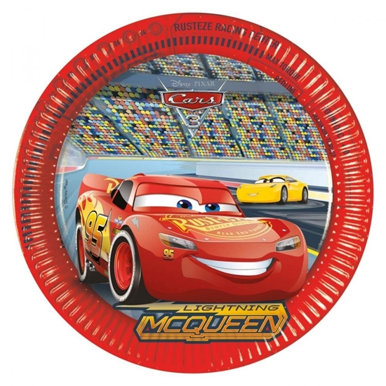 Afbeelding van Cars bordjes groot 8 stuks