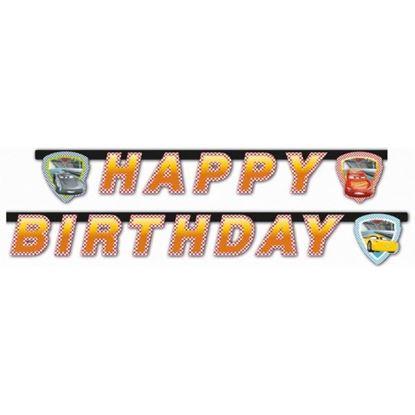 Afbeeldingen van Cars slinger Happy Birthday