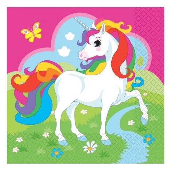 Afbeelding van Unicorn servetten 33x33 20 stuks