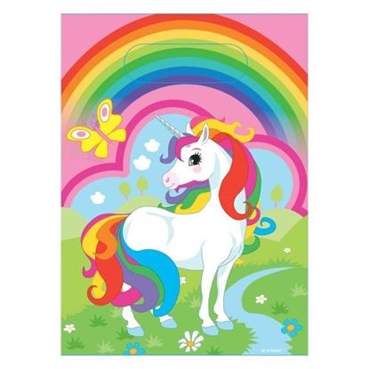 Afbeeldingen van Unicorn uitdeelzakjes 8 stuks