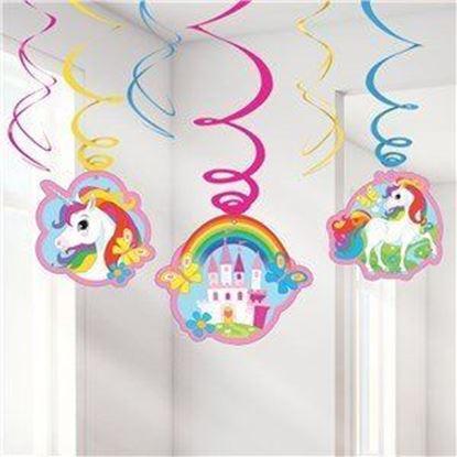 Afbeeldingen van Unicorn swirl deco
