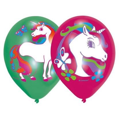 Afbeeldingen van Unicorn ballonnen 6 stuks