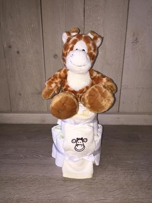 Afbeeldingen van Luiertaart Giraf klein SS