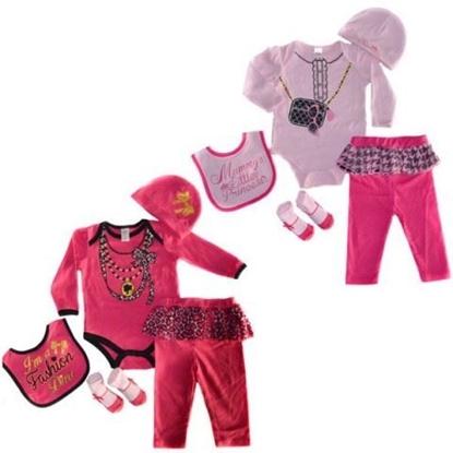 Afbeeldingen van 5 delige meisjes kleding set