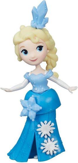 Afbeelding van Disney Frozen Mini Prinses Elsa met sneeuwpop - 10 cm - Speelfiguur