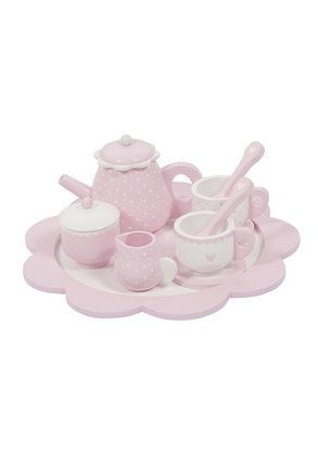 Afbeeldingen van Little Dutch houten theeservies roze
