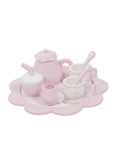 Afbeelding van Little Dutch houten theeservies roze