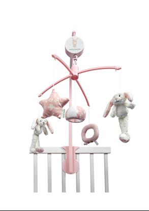 Afbeeldingen van Little Dutch muziekmobiel konijn roze