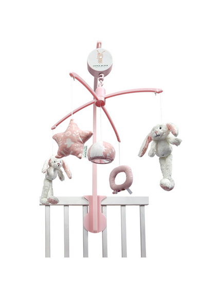 Afbeelding van Little Dutch muziekmobiel konijn roze