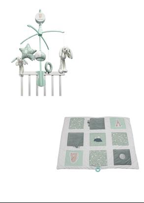 Afbeeldingen van Little Dutch combipakket boxkleed/muziekmobiel mint