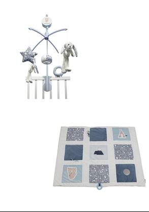 Afbeeldingen van Little Dutch combipakket boxkleed/muziekmobiel blauw