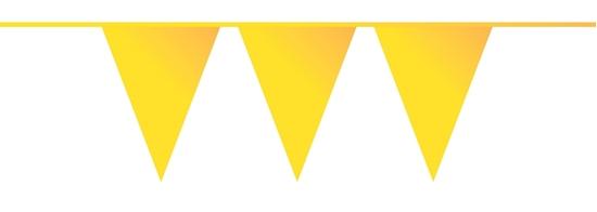 Afbeelding van Vlaggenlijn Geel 10 meter