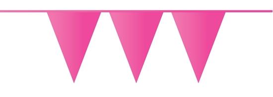Afbeelding van Vlaggenlijn fuchsia roze 10 meter