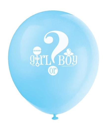 Afbeelding van Boy/Girl ballonnen 8 stuks