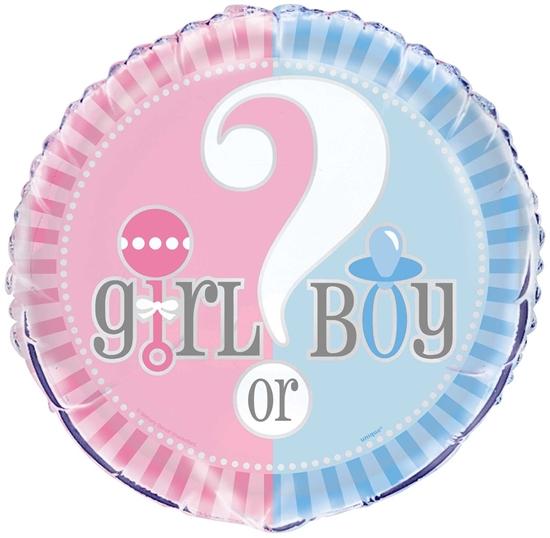 "Afbeelding van Boy/Girl helium ballon 18"""