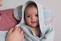 Afbeelding van Combi Tuby badcape/babyshower Glove
