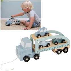 Afbeelding van Little Dutch houten truck mint