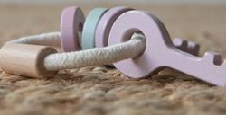 Afbeelding van Little Dutch houten sleutelbos roze
