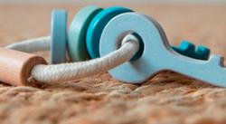 Afbeelding van Little Dutch houten sleutelbos blauw