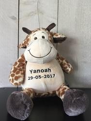 Afbeelding van Zippies Giraf geborduurd met Naam
