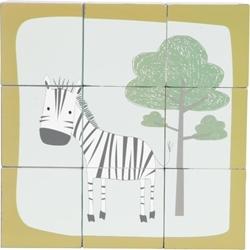 Afbeelding van Little Dutch Houten blokpuzzel dierentuin