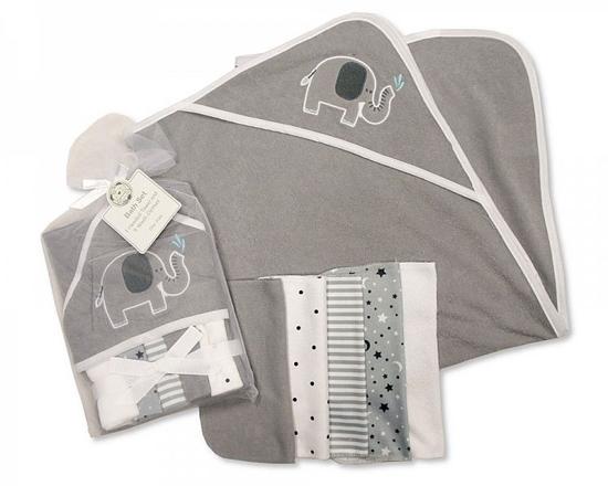 Afbeelding van Baby kadoset grijs 6 delig