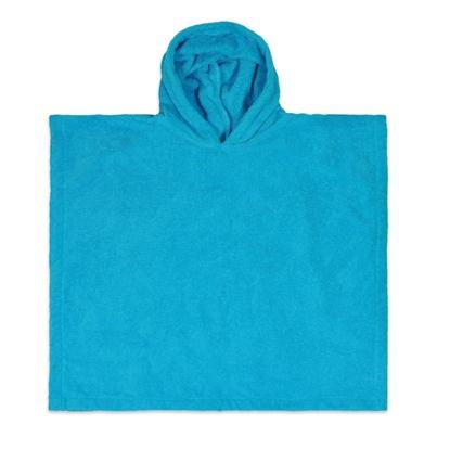 Afbeeldingen van Poncho Turquoise geborduurd met Naam