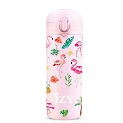 Afbeelding van Izy Bottle Kids Pink Flamingo