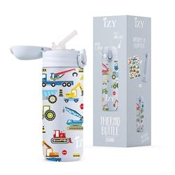 Afbeelding van Izy Bottle Kids Blauw Machines