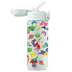 Afbeelding van Izy Bottle Kids Groen Superhelden