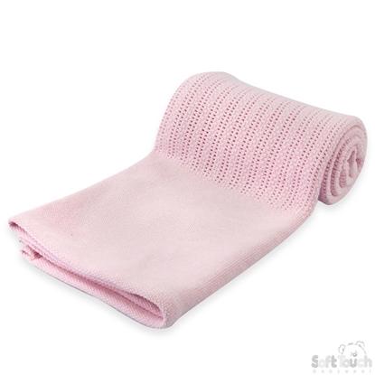 Afbeeldingen van Deluxe katoenen babydeken Roze