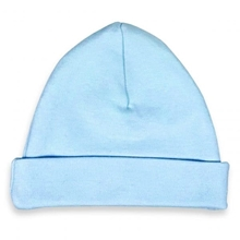 Afbeelding van Babymuts Blauw bedrukt met naam