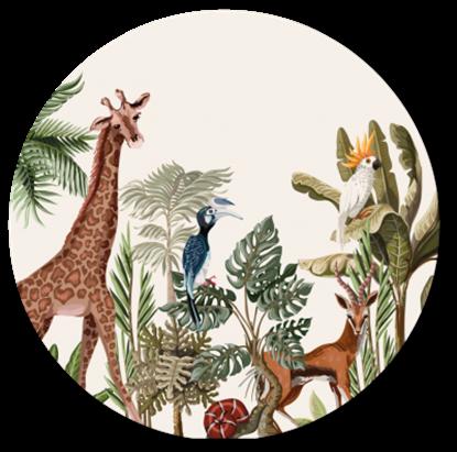 Afbeeldingen van Muurcirkel Jungle Giraf